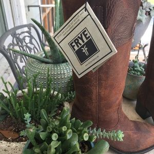 FRYE AUTUMN SHIELD TALL SUEDE & LEATHER BOOTS
